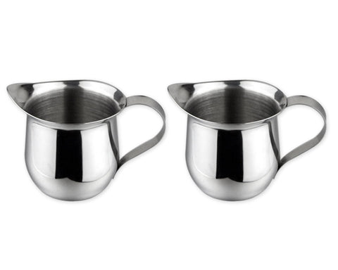 Creamer Pitcher 2 Pieces 5-Ounce Stainless Steel Bell Creamer