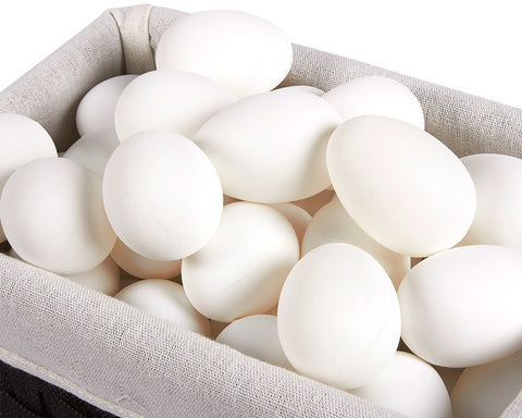 Easter Eggs 9 Pieces Blank White Wooden Eggs