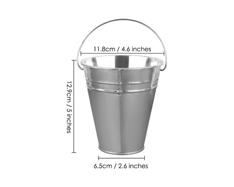 Galvanized Metal Buckets 12 Pieces Mini Buckets with Handles