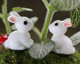 10 Pieces Rabbit Figurines for Garden, Party Decorations