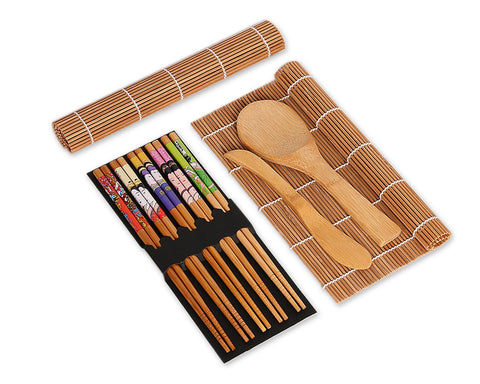 Sushi Making Kit Set of 9 Bamboo Sushi Tools