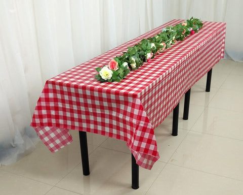 Checkered Tablecloths with Clips 54 x 108 Inch Table Covers
