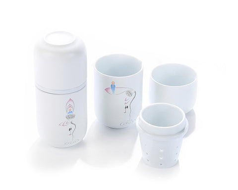 300ml Ceramic Tea Cup with Tea Infuser