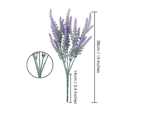 Artificial Lavender 4 Pieces Artificial Flowers for Home Decoration
