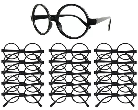 Wizard Glasses 16 Pieces Plastic Round Glass Frame without Lens