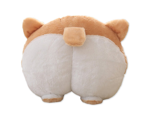Car Neck Pillow Cute Corgi Butt Headrest Cotton Pillow