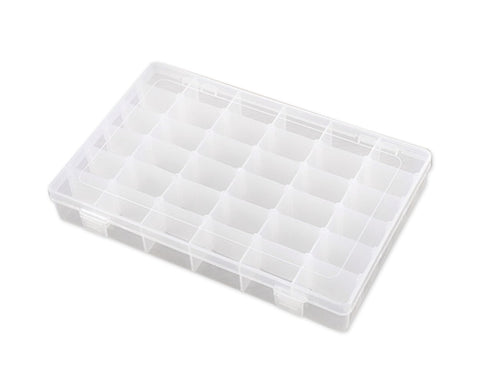 Jewelry Box 36 Grids Clear Plastic Organizer Box for Jewelry Storage