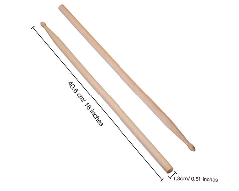 Drumsticks 3 Pairs 5A Maple Wood Drum Sticks
