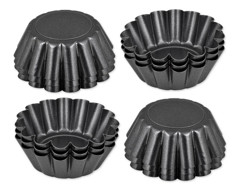 Non-Stick Mini Tart Pans Set of 12 Pieces