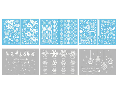 Christmas Window Stickers 6 Pieces Window Clings Decorations