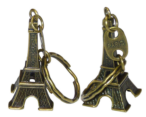 20 Pieces 2 Inches Metallic Eiffel Tower Keychain - Bronze