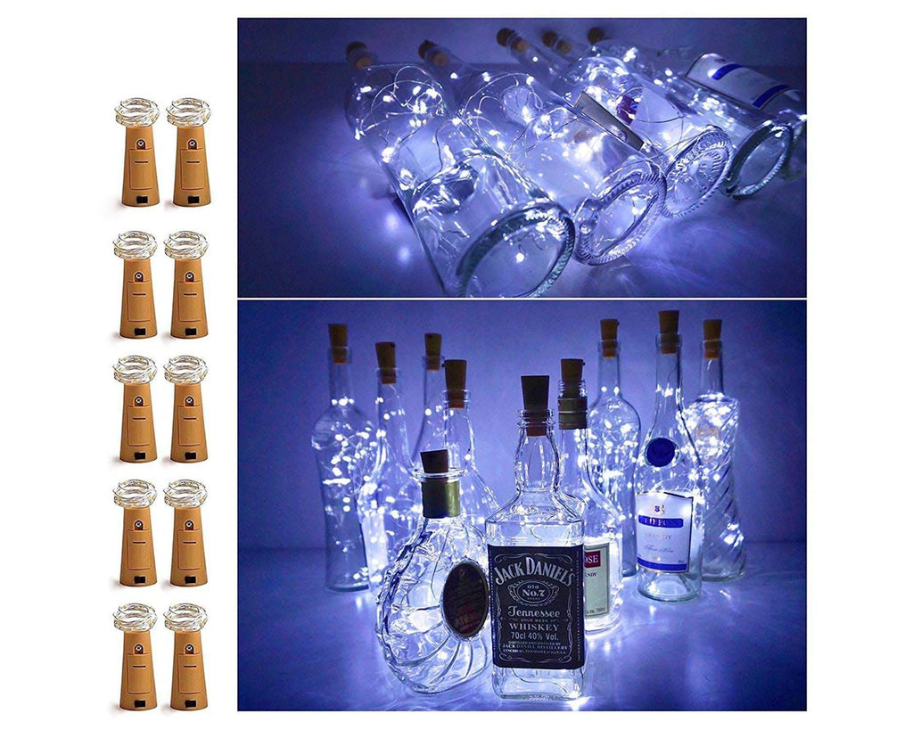 10 LED Bottle Cork String Lights 10 Pieces Battery Operated Starry Lights