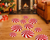 Floor Stickers 12 Pieces Floor Decals with 3 Sizes for Christmas Party Decor