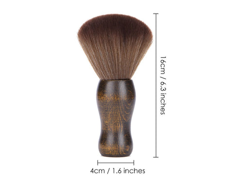 Neck Brush for Hair Cutting Soft Barber Neck Duster with Wooden Handle