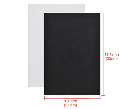 Adhesive A4 Felt Sheet 10 Pieces Fabric Sticky Back Sheets - Black