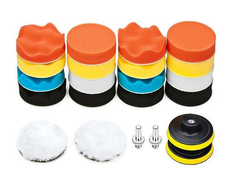 3 Inch Buffing Pad for Drill Set of 22 Car Polishing Pads Kit