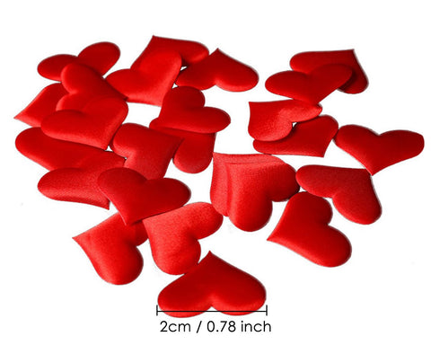 Heart Confetti 300 Pieces Heart Petals for Valentine's Day Wedding Decoration