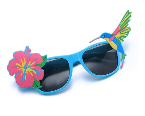 Funny Sunglasses Hawaiian Tropical Glasses - Blue