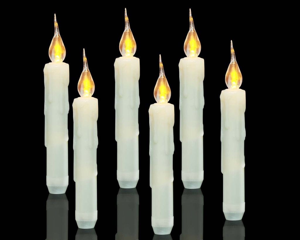 LED Window Candle Set of 6 Battery Operated Taper Candles