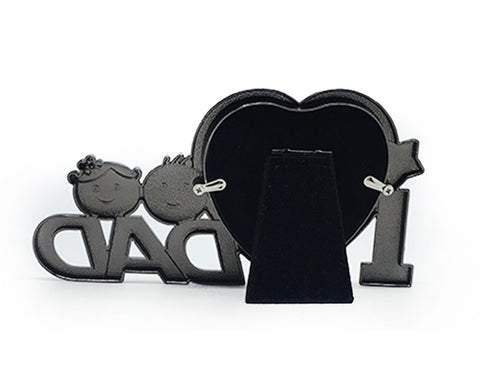 Wooden Photo Frame ''I Love Dad'' Heart Shape Picture Frame