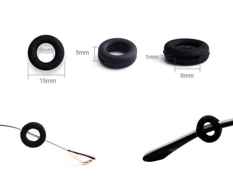 Silicone Glasses Ear Grip 10 Pairs Glasses Retainers