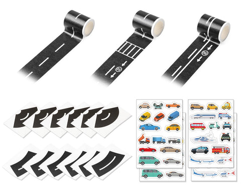 Road Tape for Toy Car 5M DIY Road Stickers Set with Curve Track