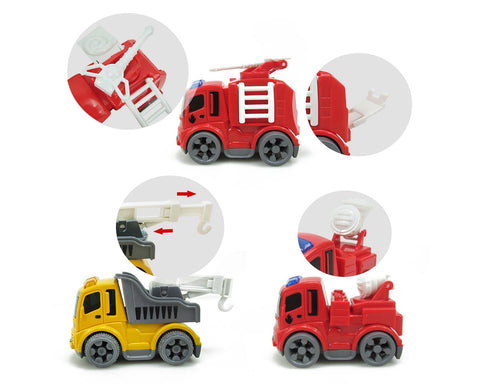 Construction Vehicles Truck Toys with Play Mat for Kids