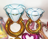 Diamond Ring Foil Balloons 4 Pieces Floating Party Balloons