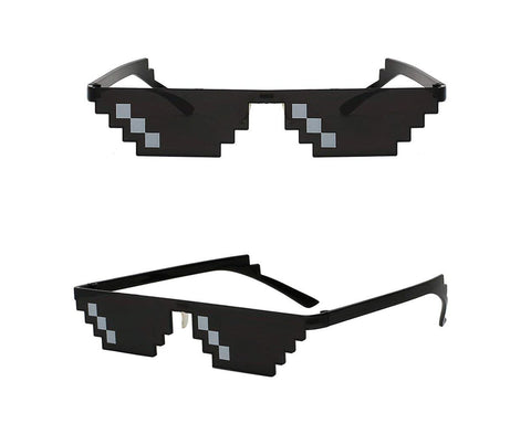 Pixel Mosaic Glasses Set of 3 8 Bit Glasses