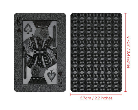 Cool Black Foil Poker Playing Cards
