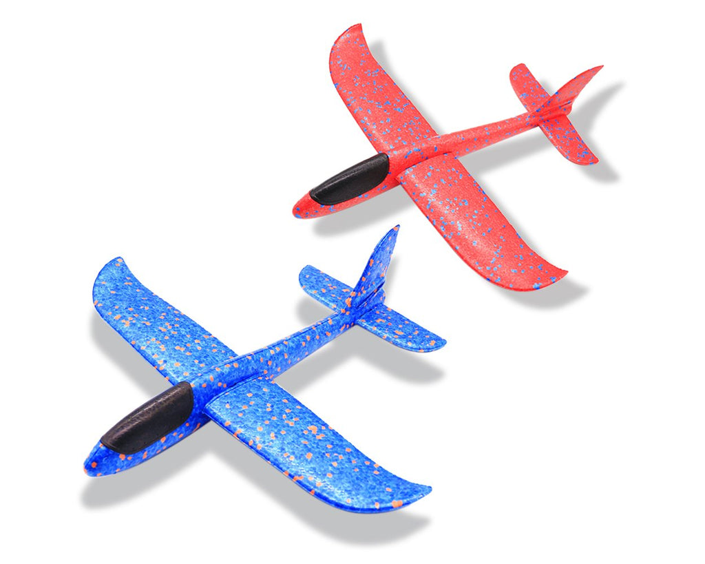 Foam Airplane 2 Pieces Foam Plane 13.5 Inches Throwing Circling Glider