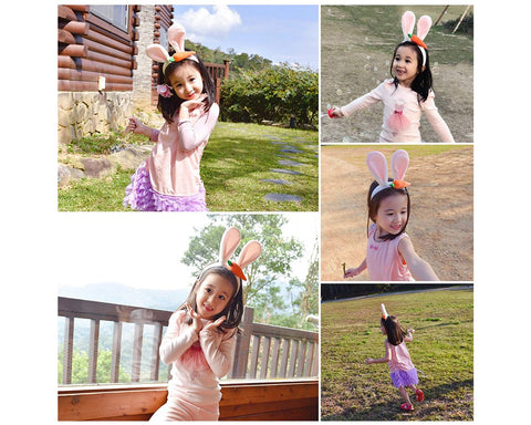 Bunny Ears Headband Hair Band for Easter Costumes