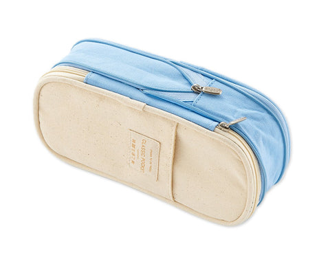 Pencil Case Large Capacity Canvas Pencil Pouch