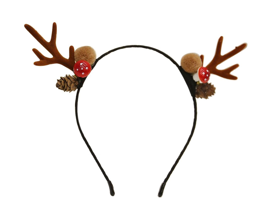 Deer Antler Headband Reindeer Hair Band for Christmas Party