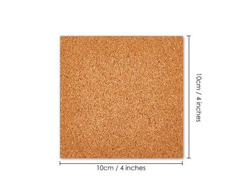 Self-Adhesive Cork Sheets 36 Pieces Mini Wall Cork Board Cork Mats