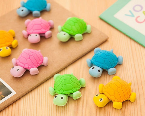 12 Pieces Turtle Shaped Pencil Erasers