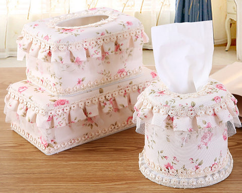Lace Tissue Box Toilet Paper Box for Home