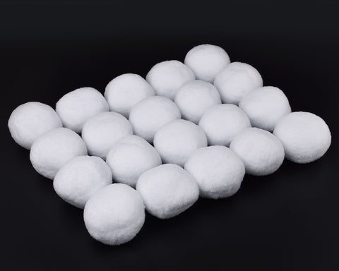 Fake Snowballs 20 Pieces Plush Snow Balls for Indoor Snowball Fight