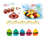 Foil Frill Firework Cupcake Topper 100 Pieces Party Cake Decorations