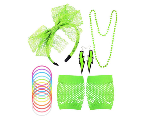 80s Costume Accessories Set for 80s 90s Theme Party