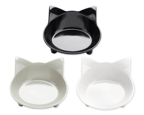 Cat Bowls Set of 3 Anti-slip Feeding Bowls for Pets