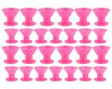 Magic Hair Rollers 40 Pieces No Clip Silicone Hair Curlers - Pink