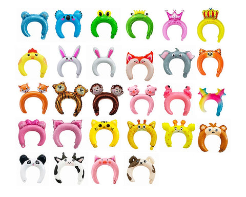 Inflatable Headbands 25 Pieces Animal Hair Hoops for Party Costumes