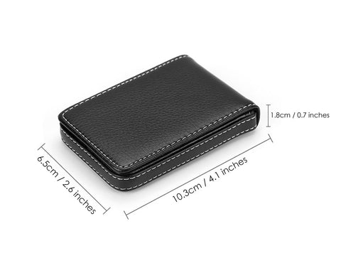 Business Card Case 2 Pieces PU Leather Name Card Holder