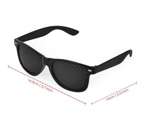 Prevention Glasses Black Pinhole Glasses for Vision Correction