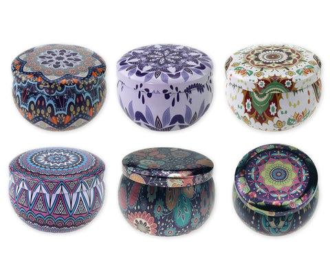 Candle Tins Bulk 6 Pieces 4 oz Candle Jars with Lids for Candle Making