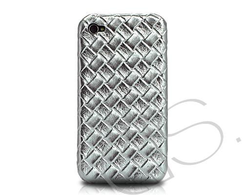 Amano Series iPhone 4 and 4S Leather Case - Silver
