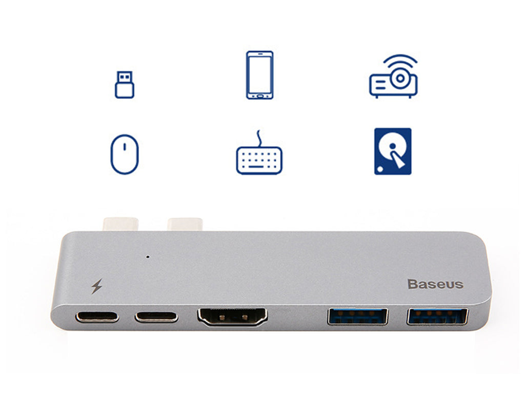Baseus USB C Hub Multiport Adapter for MacBook Pro