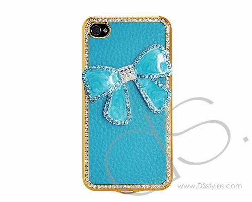 Brisk Bow Series iPhone 4 and 4S Case - Blue