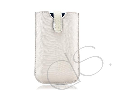 Caimani Plus Series iPhone 4 and 4S Leather Case - Pearl